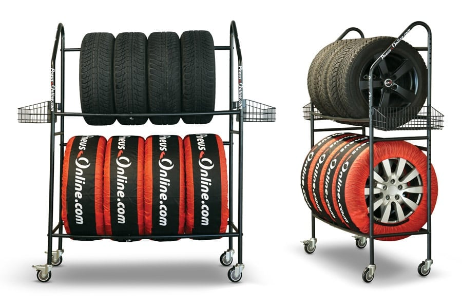 Pneus Online Mobile tyre stand