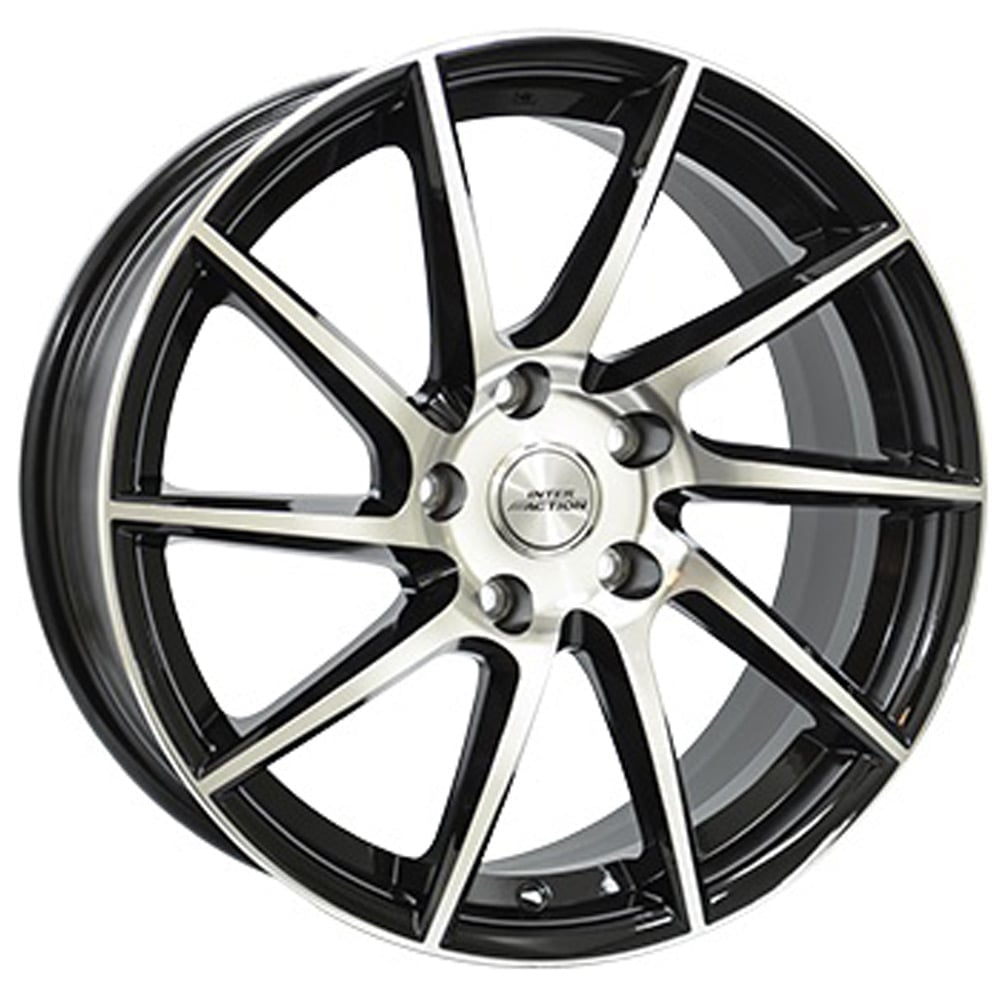 Jante Inter Action RV10 7.5x17 5x120 ET35 72.6 Preto face polida