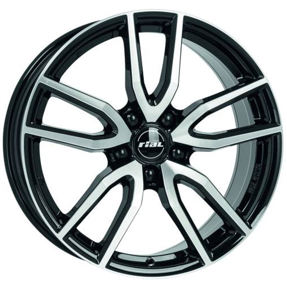 Rial Torino 7.5x17 5x114.3 ET48 70.1 Black machined face rim